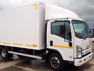 Промтоварный фургон Isuzu ELF 7.5 NPR75LL 4,6 тонны